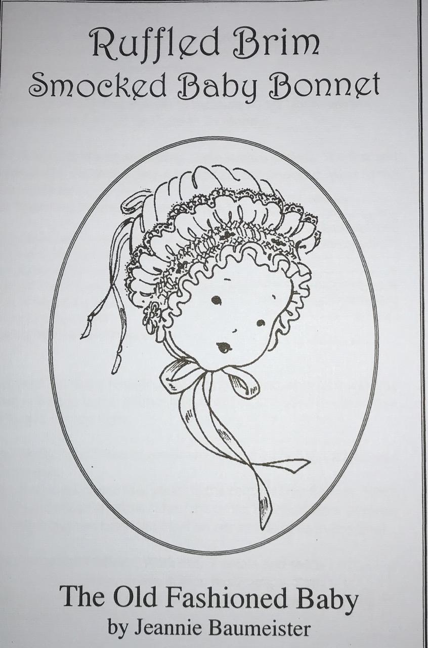 Bonnet Pattern - Smocked Ruffle Brim