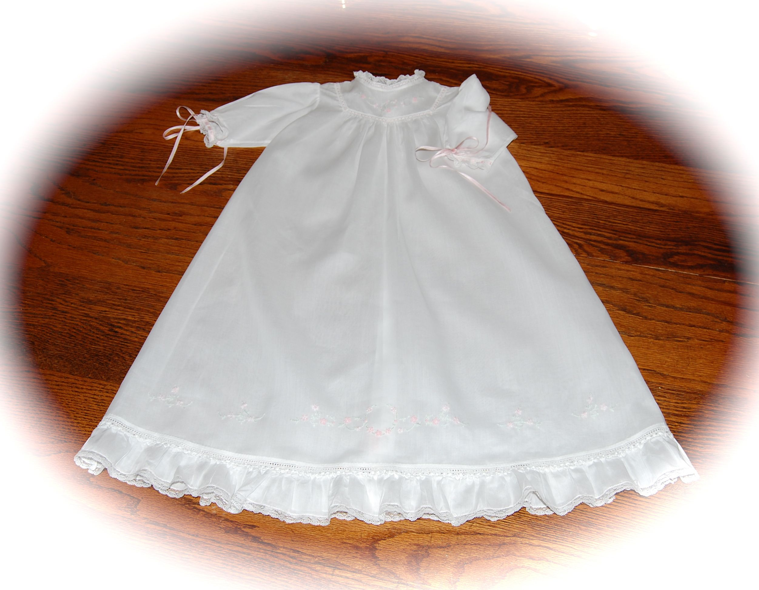 French Handsewn Circa 1920 Baby Gown Kit