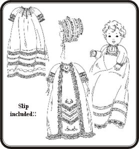 Raglan Christening Gowns Pattern