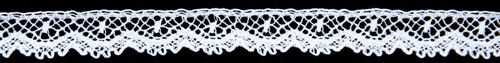 Lace Scalloped Edging Baby A-Set White or Champagne