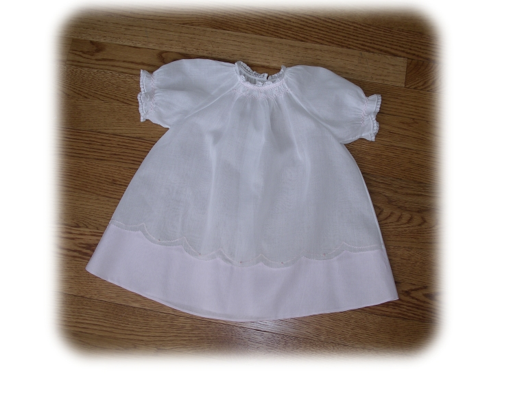 Baby's Smocked Layette Dress View 2 - Kit