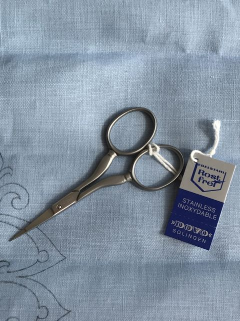 Dovo Scissor -Finest Embroidery - Brushed Stainless Steel