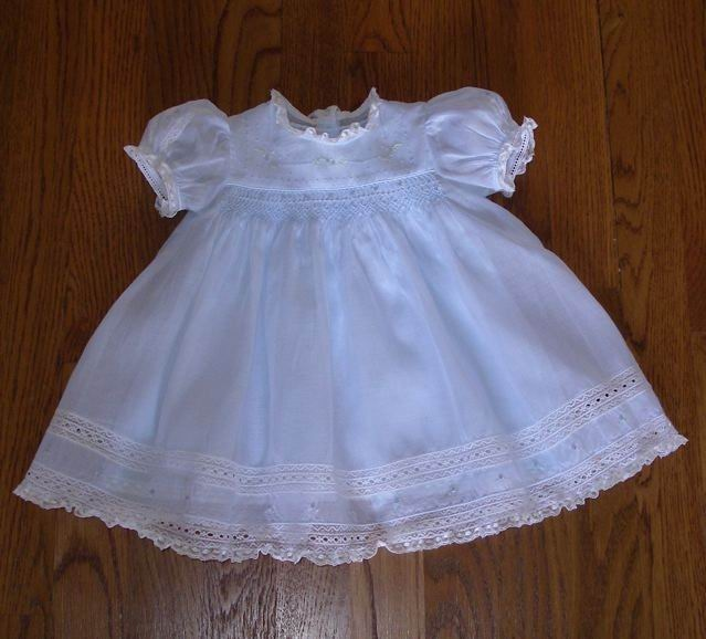 Emma's Smocked Baby Dresses Blue  Lacy Kit
