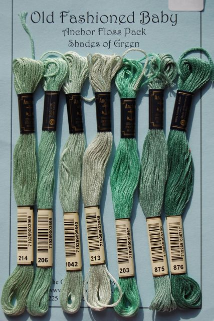 Anchor Floss Pack - Shades of Green