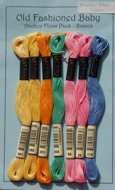 Anchor Floss Pack - Shadow Embroidery Colors