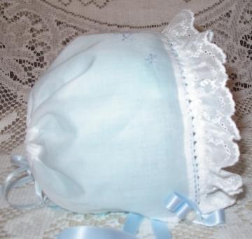 Class - Snail Shirring Baby Bonnet