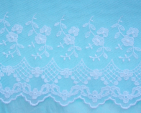 Embroidered English Lace Netting- A
