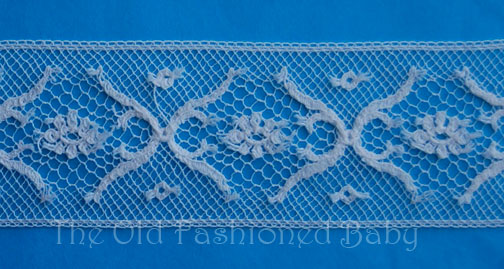 CRNb Crown  Maline Lace Insertion 1""