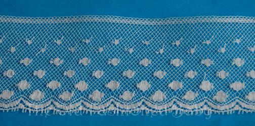 """Od - Dot Maline 11/4"""" Lace Edging-White"""