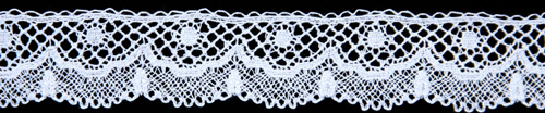 Lace Scalloped Edging B -Set in Ivory