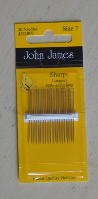 Sewing Needles  Sharps- Size 7