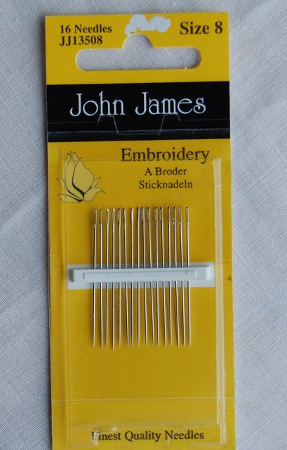 Sewing Needles Crewel  - Size 8 Crewel/Embroidery John James