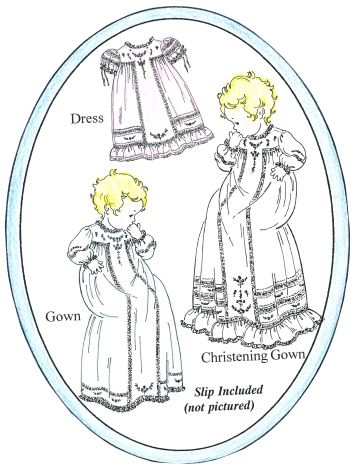 Antique T-Gown, Dress & Christening Gown Pattern