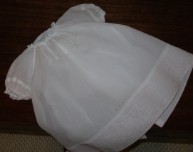Baby Rose Raglan Dress View 2- White Swiss Nelo Batiste