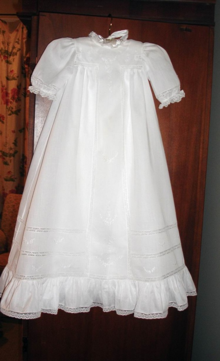 Antique T-Yoke Christening Gown